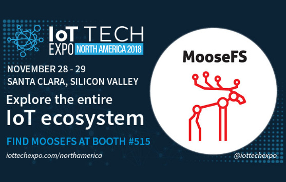 IoT Tech Expo North America MooseFS 1 - MooseFS Pro at IoT Tech Expo 2018